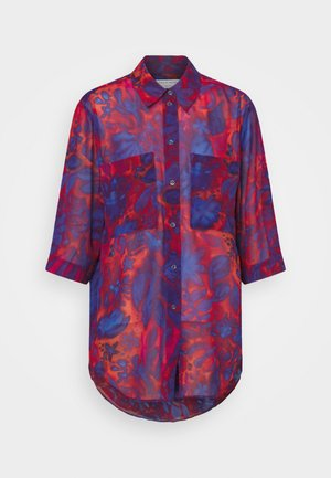LEROS - Button-down blouse - red