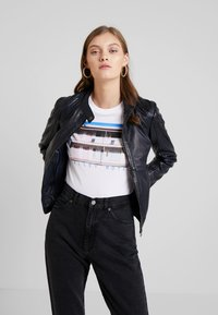 Gipsy - ANGY LAMAS - Leather jacket - dark navy - 3
