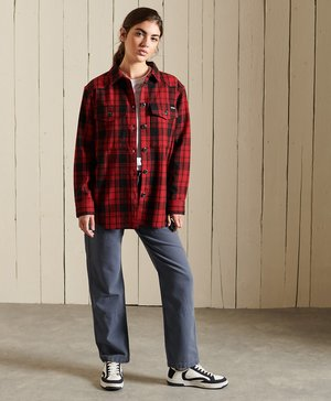 CHECK - Button-down blouse - red check
