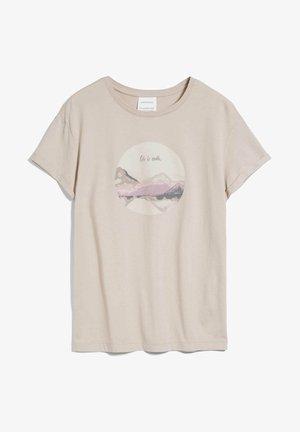 NAALIN ODE TO EARTH - Print T-shirt - light desert