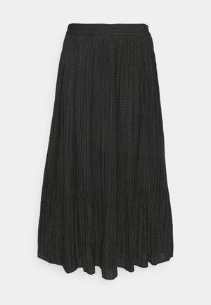 PRICKLY CIRA SKIRT - Plisovaná sukně - black