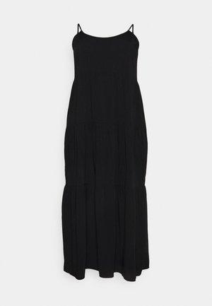 CAMI STRAP TIERED DRESS - Maxiklänning - black