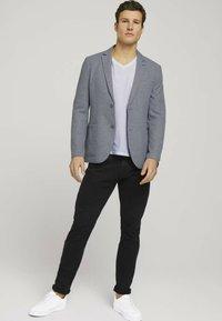 TOM TAILOR - Blazer jacket - grey melange structure - 1