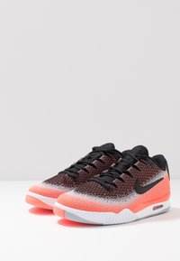 Nike Performance - TECH CHALLENGE VAPOR - Clay court tennis shoes - black/white/hot lava/wolf grey - 2