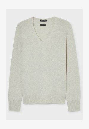 Sweter - light gray/melange