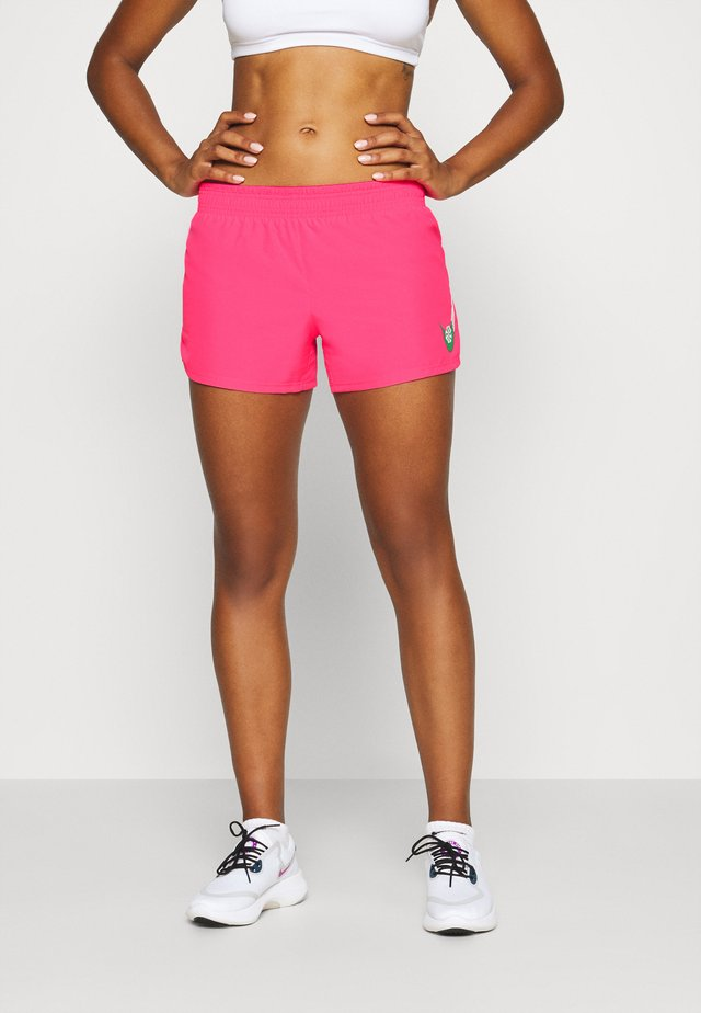 SHORT - Krótkie spodenki sportowe - hyper pink/lucky green