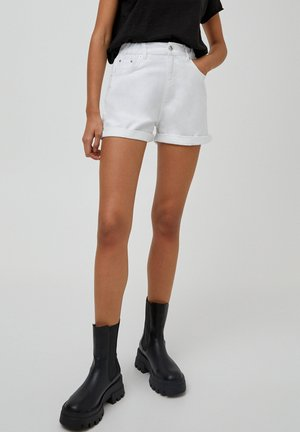 WALLY - Shorts di jeans - white