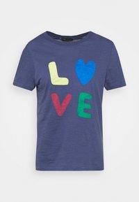 AUTH SLOG TEE - Print T-shirt - dark blue
