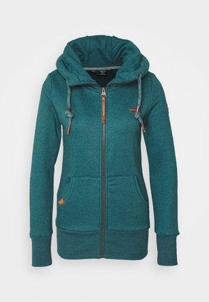 NESKA ZIP - Zip-up hoodie - petrol