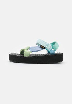 MIDFORM UNIVERSAL UNISEX - Walking sandals - light green/multicolor