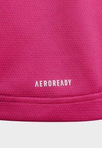 adidas Performance - AEROREADY 3-STREIFEN - Camiseta estampada - pink - 2