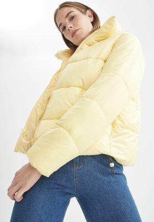 REGULAR FIT  - Winter jacket - yellow
