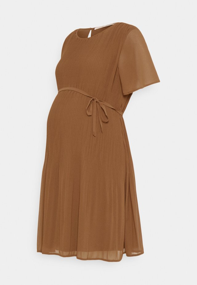 DRESS SELSA - Korte jurk - brown