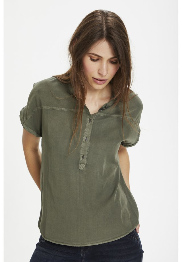 DHFIONA SS - Blus - dusty olive