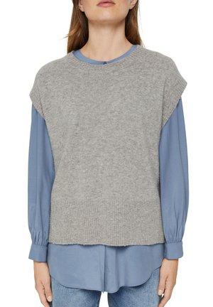 MIT HIGH LOW SAUM - Basic T-shirt - medium grey