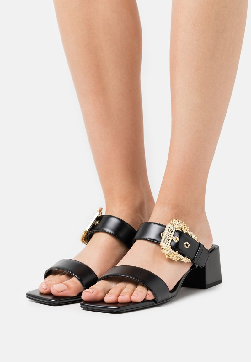 Versace Jeans Couture - Heeled mules - nero