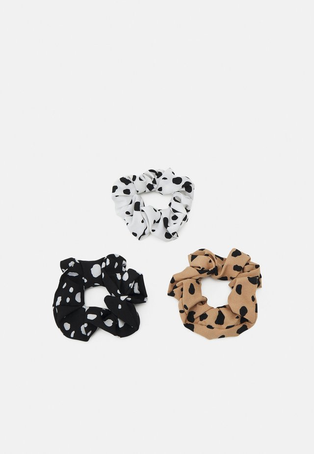 DOTINA SCRUNCHIE 3 PACK - Hair Styling Accessory - black/white/sand