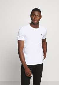 Abercrombie & Fitch - CREW 5 PACK - Basic T-shirt - white/grey/blue/charcoal/navy - 6