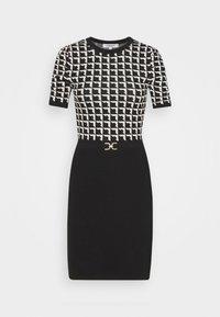 Morgan - Pouzdrové šaty - noir/offwhite - 5