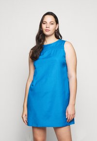 CAPSULE by Simply Be - CROCHET SHIFT DRESS - Day dress - azure blue - 0
