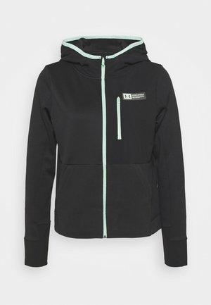MIXED MEDIA - Fleece jacket - black