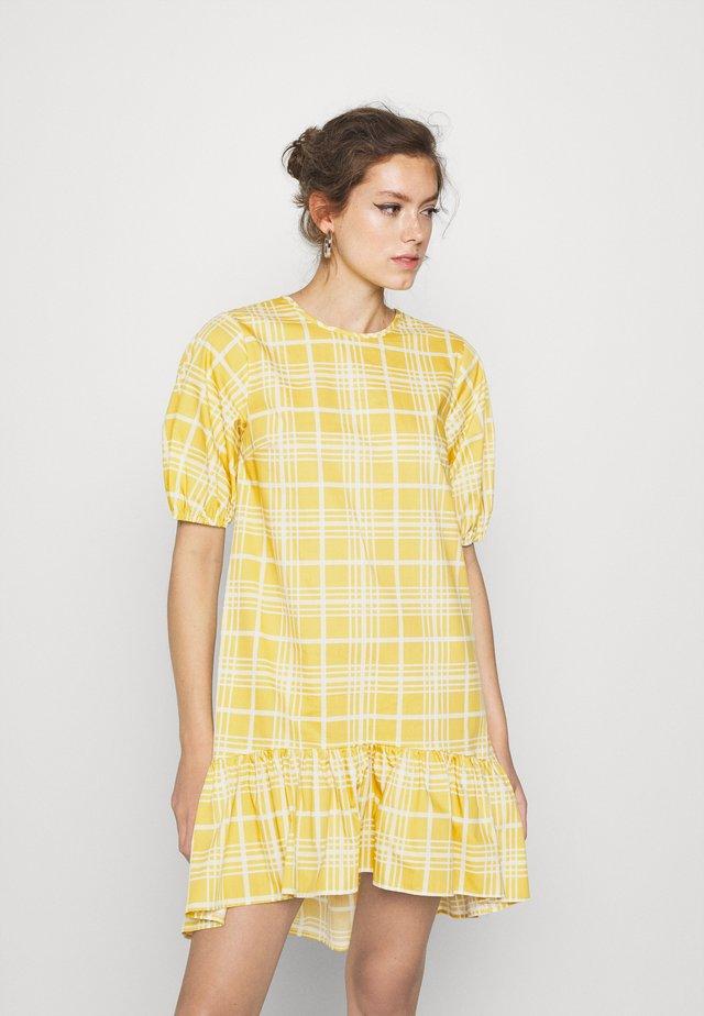CHECK MINI - Day dress - yellow