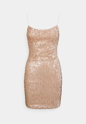 SEQUIN MINI DRESS - Juhlamekko - champagne
