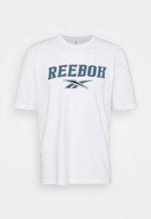 SOFT EDGE LINEAR TEE - T-shirt con stampa - white