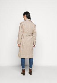 ONLY Petite - ONLTRILLION LONG BELT COATIGAN  - Classic coat - humus - 2