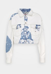 EXTRA CROPPED - Spijkerjas - cloudy light blue rigid
