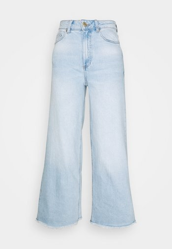 CROP - Jeans relaxed fit - stone blue denim