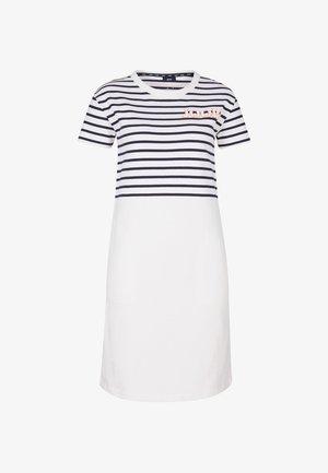 TRINA - Jersey dress - navy/weiß
