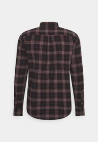 Pier One - Camisa - mottled dark grey / bordeaux - 1