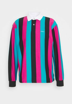SIDE LINE - Polo shirt - black multi