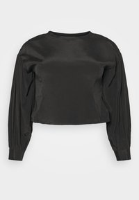 Glamorous Curve - OPEN BACK BLOUSE WITH PUFF SLEEVES - Blouse - black - 3