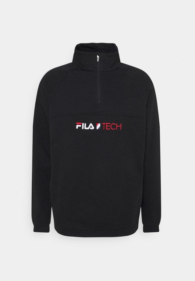 CHILL HALF ZIP - Sweatshirt - black