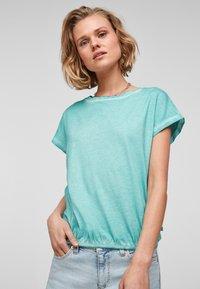 Q/S designed by - Basic T-shirt - turquoise - 0