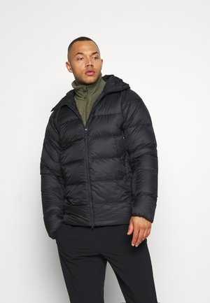 MERON IN HOODED JACKET MEN - Dunjacka - black