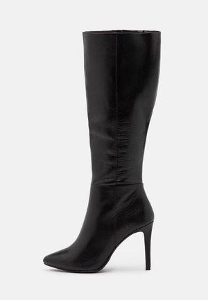 EFFINA - Bottes à talons hauts - black