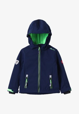 KIDS TROLLFJORD JACKET - Softshellová bunda - navy/light green