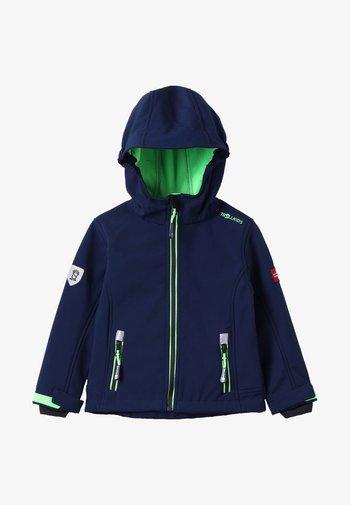 TROLLFJORD UNISEX - Soft shell jacket - navy/light green