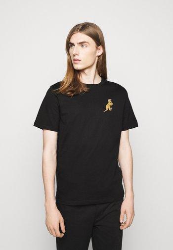 MENS REG FIT DINO SMALL - Print T-shirt - black