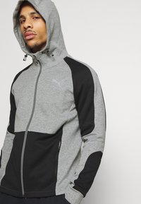 Puma - EVOSTRIPE HOODIE - Hoodie met rits - medium gray heather - 3