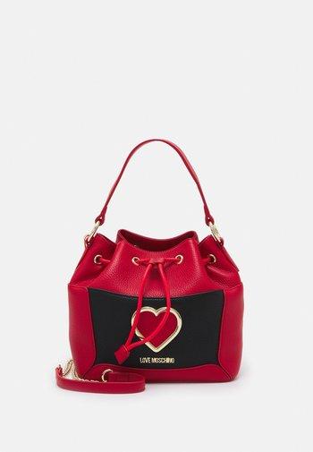 COLORBLOCK HEART BUCKET - Handbag - fantasy color