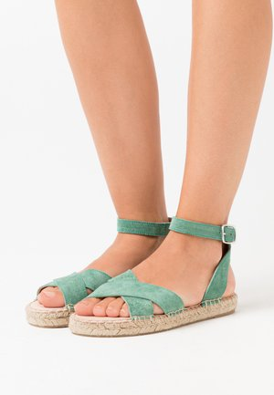 LEATHER - Espadrilky - mint
