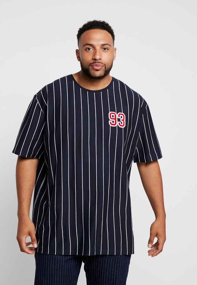 STRIPED TEE APLICATIONS  - Print T-shirt - navy