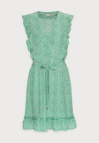 Esqualo - DRESS RUFFLES FIELD FLOWER - Hverdagskjoler - green - 3