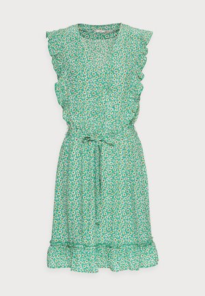 DRESS RUFFLES FIELD FLOWER - Vapaa-ajan mekko - green