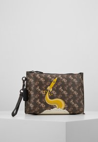 Coach - HORSE AND CARRIAGE ROCKET CHARLIE POUCH - Trousse - brown/black - 0