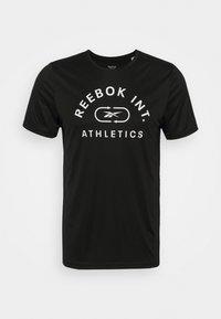 GRAPHIC TEE - Print T-shirt - black/white
